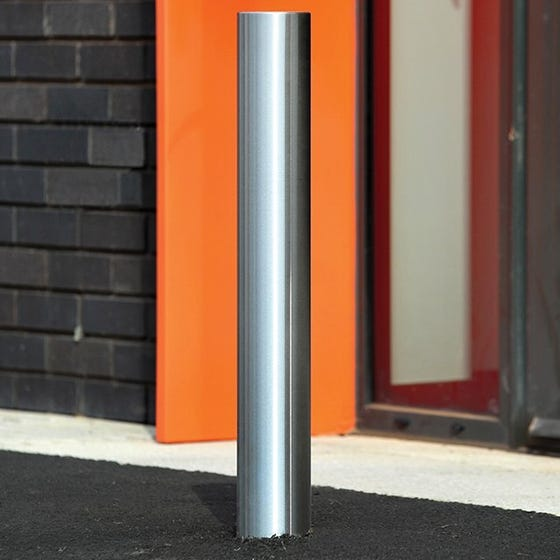 Flat Top Sheffield Stainless Steel Bollard