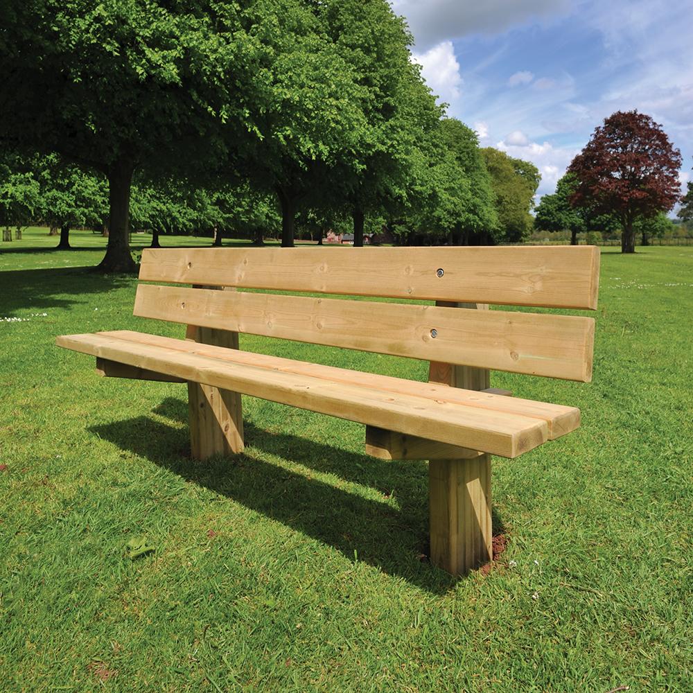 Hatton Rustic 4 Slat Seat