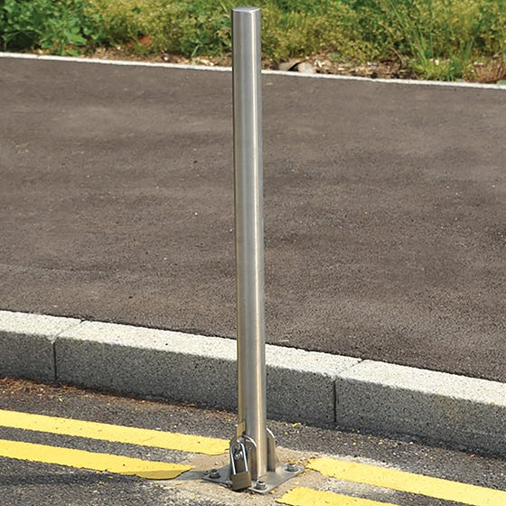 Fold Down Stainless Steel Post