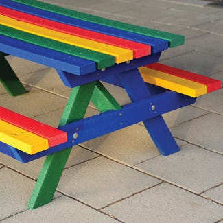 Rainbow Recycled Plastic Picnic Unit