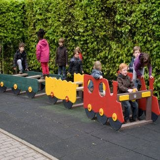 Train with carriages